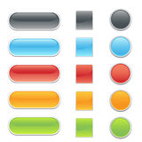 Web site or internet buttons. Colorful 3D looking buttons for web site design Royalty Free Stock Photo