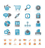 Web Site, Internet and computer Icons Stock Photos