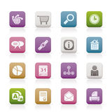 Web Site, Internet and computer Icons Royalty Free Stock Images