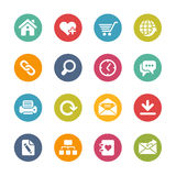 Web Site and Internet Icons -- Fresh Colors Series Royalty Free Stock Images