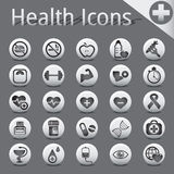 Web Site and Internet Icons medicine fitness Stock Images