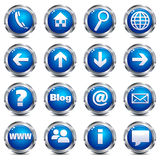 Web Site & Internet Icons - SET ONE Royalty Free Stock Images