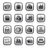 Web Site and Internet icons Stock Photography