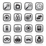 Web Site and Internet icons Royalty Free Stock Photo