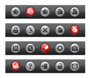Web Site & Internet Plus // Button Bar Series Stock Photo