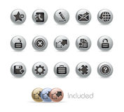 Web Site & Internet Plus// Metal Button Series Royalty Free Stock Photo