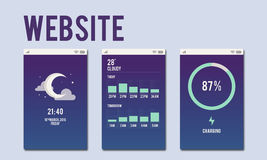 Web Site Mobile Interface Layout Concept Stock Images
