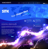 Web site modern template Stock Images