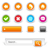 Web site navigation buttons Stock Photos