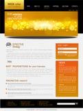 Web site negro y amarillo del vector para el asunto