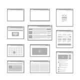 Web site page templates Royalty Free Stock Photo