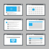 Web site page templates Royalty Free Stock Photos