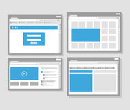 Web site page templates collection Royalty Free Stock Photo