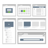 Web site page templates collection Stock Images