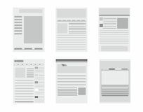 Web site page templates collection Stock Image