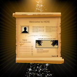 Web site paper template. Web site paper design template Royalty Free Stock Images