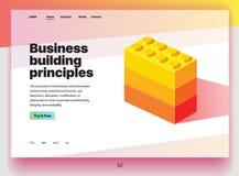 Web site que proporciona o serviço de princípios da construção do negócio ilustração do vetor