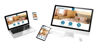 Web site responsivo da sala de registro dos dispositivos do voo Imagens de Stock