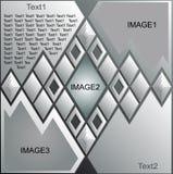 Web site romboide do projeto Imagem de Stock