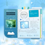 Web site scrapbook design. Ecology background Royalty Free Stock Photography