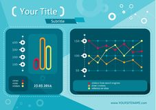 Web site seo analytics charts on screen of PC Stock Photography