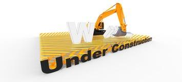 Web site sob a construção Imagens de Stock Royalty Free