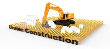 Web site sob a construção Fotografia de Stock