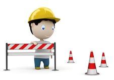 Web site sob a construção! Caráteres 3D sociais Imagem de Stock