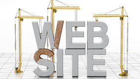Web site sob a construção ilustração 3D ilustração royalty free