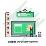 Web site sob o conceito da construção Fotos de Stock Royalty Free