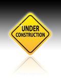 Web site sob o sinal da construção Fotografia de Stock Royalty Free