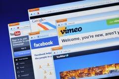 Web site sociales de los media Fotografía de archivo libre de regalías