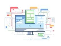 Web site structure. Order. Page design website. Vector flat illustration Stock Images