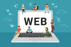Web site surfing concept illustration Stock Photography