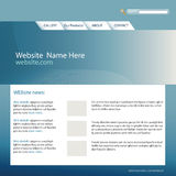 Web site template. Website design template for your e-business vector illustration