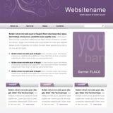 Web site template. Homepage editable