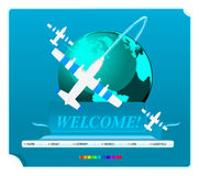 Web site template,. Illustration Royalty Free Stock Photography