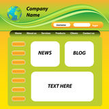 Web Site Template Stock Images