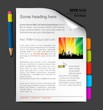 Web site template Stock Photography