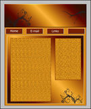 Web Site Template Stock Image