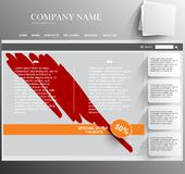 Web site template Stock Image