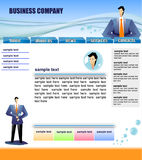 Web site template. Ready-made web site template for companies Royalty Free Stock Images