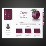 Web site template design Royalty Free Stock Image