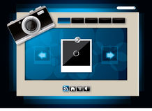 Web site template design vector Stock Images