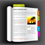 Web site template - open book Stock Photography