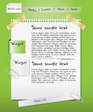 Web site template - paper Stock Images