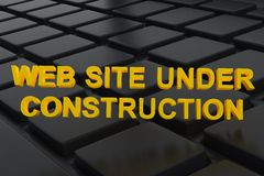 Web site under construction Stock Image
