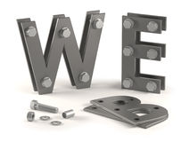 Web site under construction - bolts Royalty Free Stock Photos