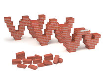 Web site under construction - bricks Stock Photography