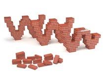 Web site under construction - bricks. Concept of web site under construction with bricks Stock Photography